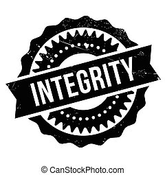 Integrity stamp. Grunge design with dust scratches. Effects...