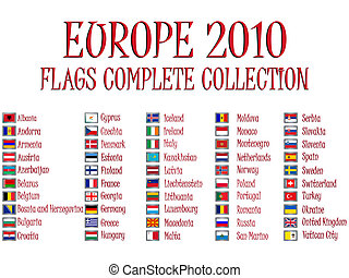 europe 2010 flags