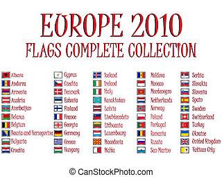 Europa, Flaggen,  2010