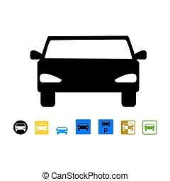 Parking - Car parking sign, vector illustration