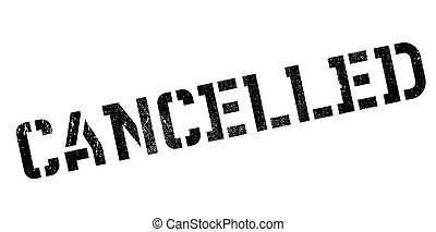 Cancelled rubber stamp. Grunge design with dust scratches....