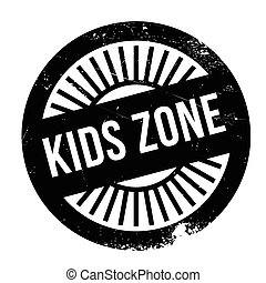 Kids zone stamp