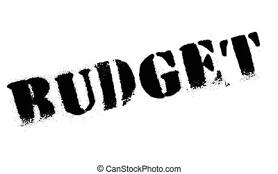 Budget stamp. Grunge design with dust scratches. Effects can...