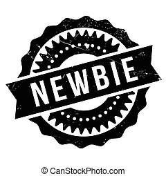 Newbie stamp. Grunge design with dust scratches. Effects can...
