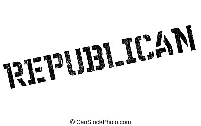 Republican stamp. Grunge design with dust scratches. Effects...