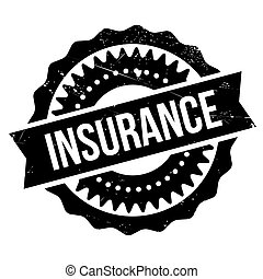 Insurance stamp. Grunge design with dust scratches. Effects...