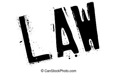 Law stamp. Grunge design with dust scratches. Effects can be...