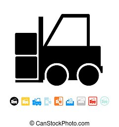 Forklift icon - isolated on white background
