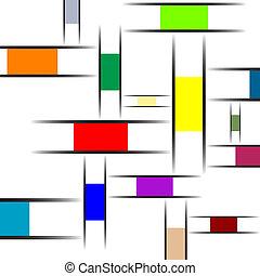 mondrian abstract texture, art illustration