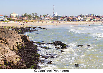Cal beach in Torres in a sunny day - Sunny day with waves...