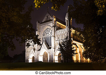 St Albans abbey church illumination England UK - Popular...