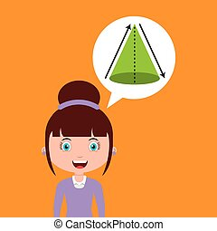 geometry education online design girl bubble speech and...