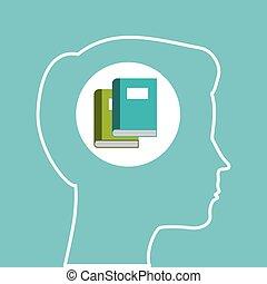 silhouette head boy learning education online