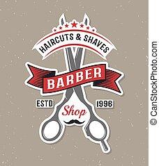 Color Barber Scissors Poster - Color barber scissors poster...