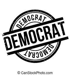 Democrat stamp. Grunge design with dust scratches. Effects...