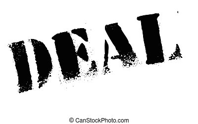 Deal stamp. Grunge design with dust scratches. Effects can...