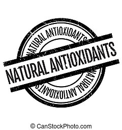 Natural antioxidants stamp. Grunge design with dust...