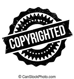 Copyrighted stamp. Grunge design with dust scratches....
