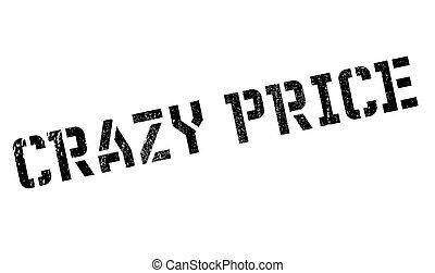 Crazy price stamp. Grunge design with dust scratches....