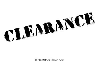 Clearance stamp. Grunge design with dust scratches. Effects...
