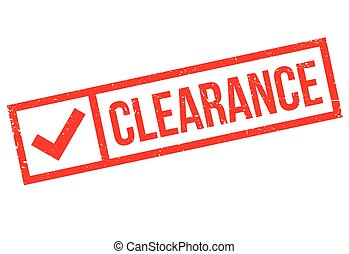 Clearance stamp