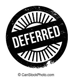 Deferred stamp. Grunge design with dust scratches. Effects...