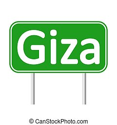 Giza road sign. - Giza road sign isolated on white...
