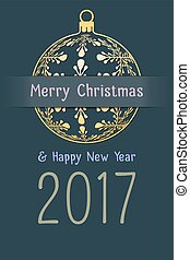 christmas and new year 2017 background - Merry Christmas and...
