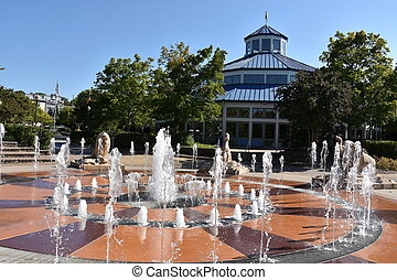 Coolidge Park in Chattanooga, Tennessee - Fountain at...
