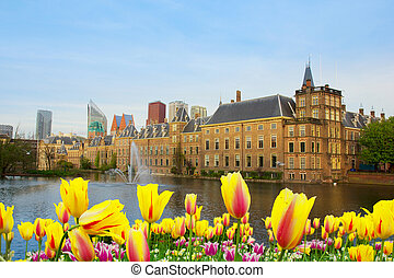 Den Haag, Netherlands - city center of Den Haag with...