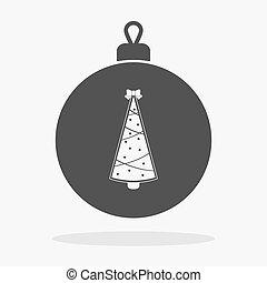 Christmas ball with tree