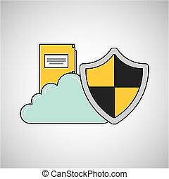 file folder cloud shield protection