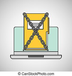 laptop folder archive data protection graphic