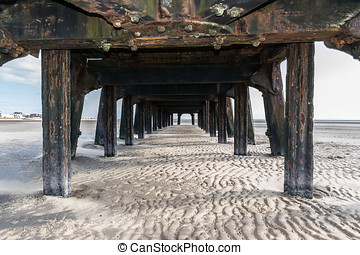 The Jetty - Under the old jetty at St Annes on Sea