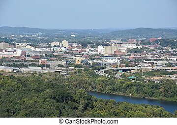 View of Chattanooga in Tennessee, USA