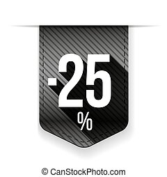 Sale twenty five percent off banner grey ribon