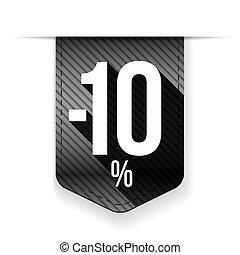 Sale ten percent off banner grey ribon