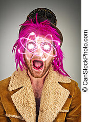 Bearded Lunatic Atomic Energy - Pink haired bearded lunatic...