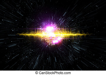 Universe Starscape Explosion 3D Illustration - Cosmic galaxy...