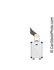 Businessman or manager with a suitcase . Stock vector...