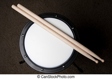 Drum Practice Pad - An instructional Drum Practice Pad used...