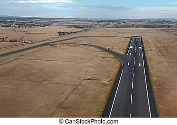 Runway of an airport