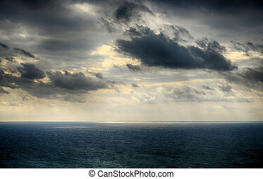 Beautiful sky over the sea after the storm. High Dynamic...