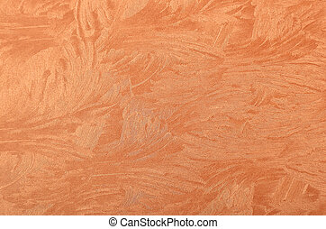 Metallic paper background - Glittery and textured copper...