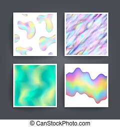 Abstract background holographic vector - Universal different...