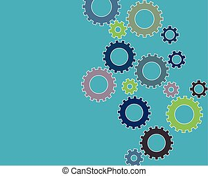 Color gears infographics
