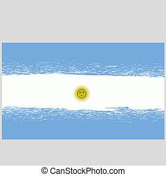 Grunge National Argentinean Flag - Flag of Argentina. Grunge...