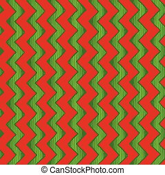 zigzag parallel lines - Retro wrapping. Seamless pattern of...
