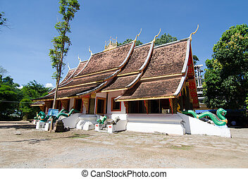 Wat Chiang thong in Chiang Khan Loei, Thailand ( public...