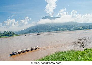 Beautiful nature along Mekong river, Kaeng Khut Khu, Chiang...